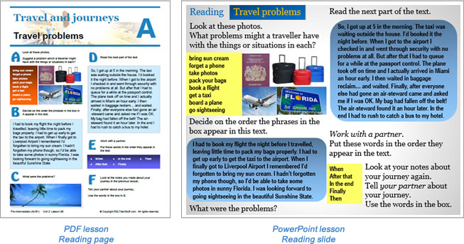 Additional lesson Reading 2 page