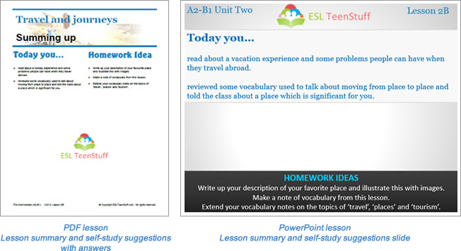 Additional lesson Summary page