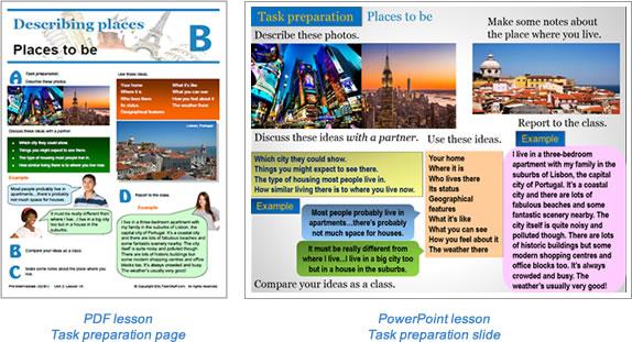 Task lesson Task preparation page